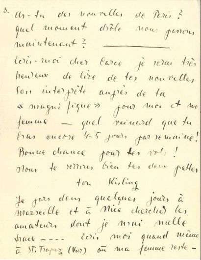 Moïse KISLING (1891-1953) LAS, Saint-Tropez...