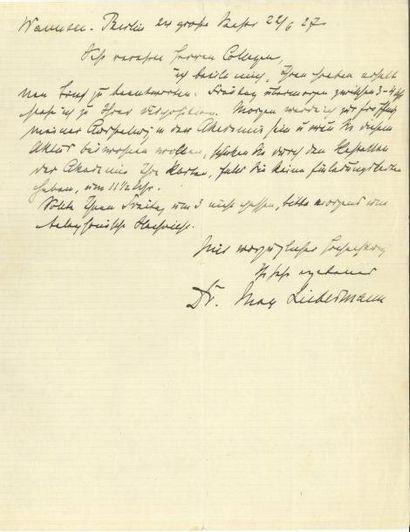 Max Liebermann LAS, Wannsee-Berlin 22 juin...