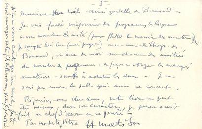Henri MATISSE LAS, Vence Avril 1944, à Henry...