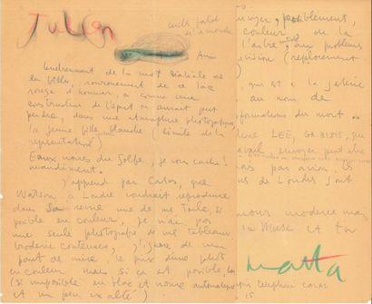 Roberto MATTA (1911-2002) LAS avec dessin,...