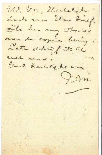 Piet MONDRIAN (1872-1944) LAS («PM», et...