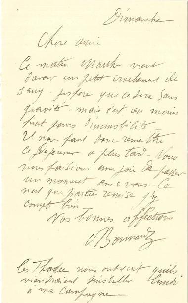 Pierre BONNARD LAS, Dimanche, à une amie...