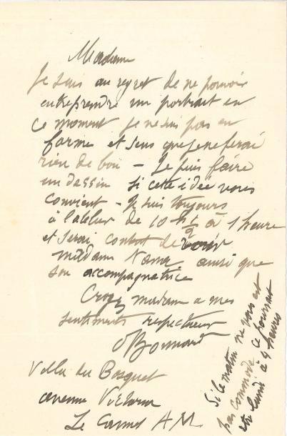 Pierre BONNARD (1867-1947) 4 LAS, Le Cannet...