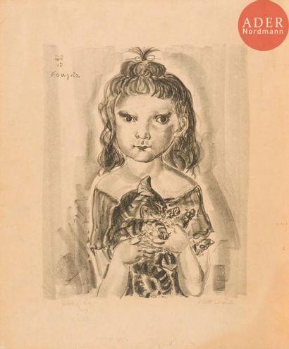 Léonard-Tsuguharu Foujita (1886-1968) Fillette...