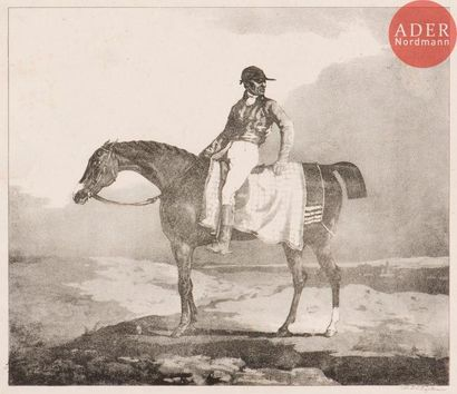 Théodore Géricault (1791-1824) Cheval anglais...