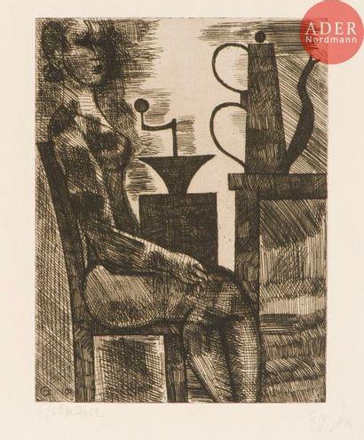 Marcel Gromaire (1892-1971) Le Moulin à café....