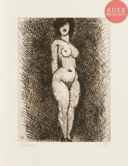 Marcel Gromaire (1892-1971) Nu debout. 1935....