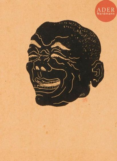 Henri Guérard (1846-1897) Masque grotesque...