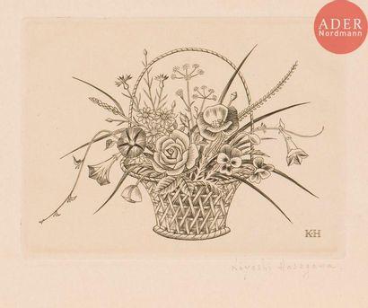 Kiyoshi Hasegawa (1891-1980) Panier à fleurs...