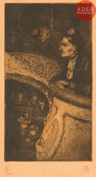 Charles Huard (1874-1965) Au balcon. Vers...