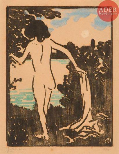 Jean-Émile Laboureur (1877-1943) Baigneuse....