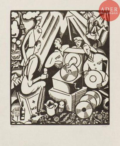 Jean-Émile Laboureur (1877-1943) Le Gramophone....