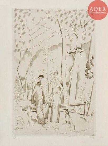 Jean-Émile Laboureur (1877-1943) En forêt....