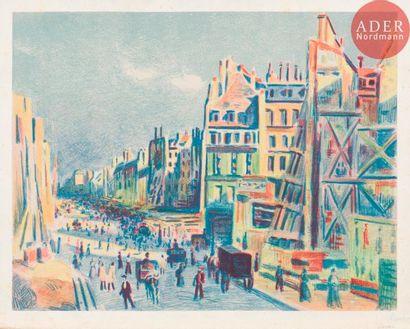 Maximilien Luce (1858-1941) La Rue Réaumur...