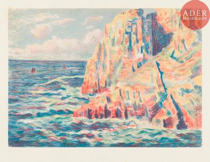 Maximilien Luce (1858-1941) Les Rochers rouges,...