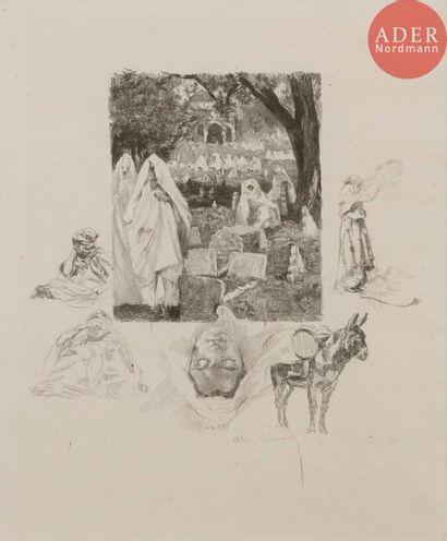 Alexandre Lunois (1863-1916) Cimetière algérien...