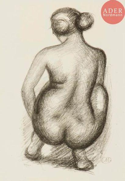 Aristide Maillol (1861-1944) Femme nue assise...