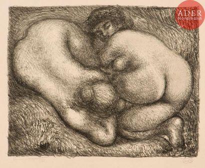 Aristide Maillol (1861-1944) Deux femmes...