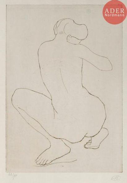 Aristide Maillol (1861-1944) Femme accroupie...