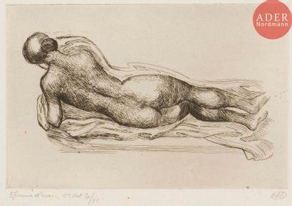 Aristide Maillol (1861-1944) Femme étendue...
