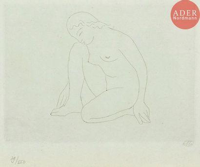 Aristide Maillol (1861-1944) Femme agenouillé...