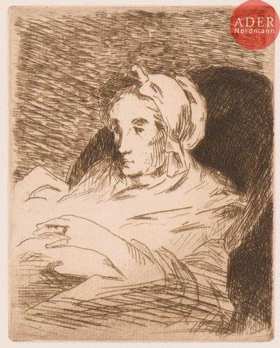 Édouard Manet (1832-1883) La Convalescente....