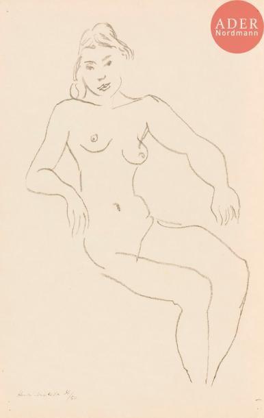 Henri Matisse (1869-1954) Nu assis, chevelure...