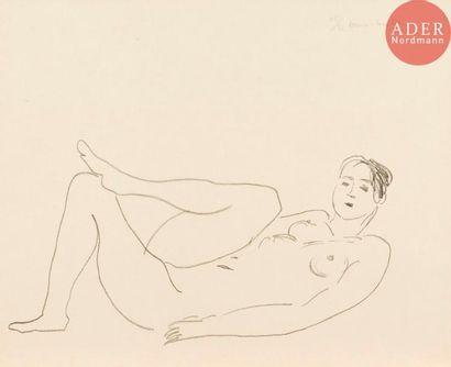 Henri Matisse (1869-1954) Nu couché, jambe...