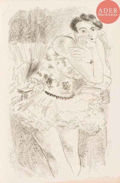 Henri Matisse (1869-1954)  Danseuse à mi-jambes,...