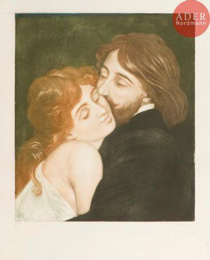Charles Maurin (1856-1914) Le Baiser. Vers...