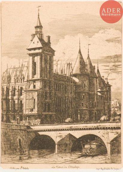 Charles Méryon (1821-1868) La Tour de l'Horloge....
