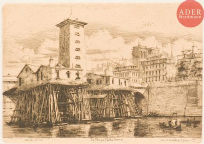 Charles Méryon (1821-1868) La Pompe Notre-Dame....