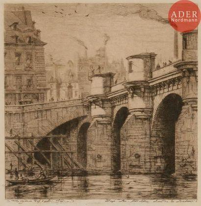 Charles Méryon (1821-1868) Le Pont Neuf....