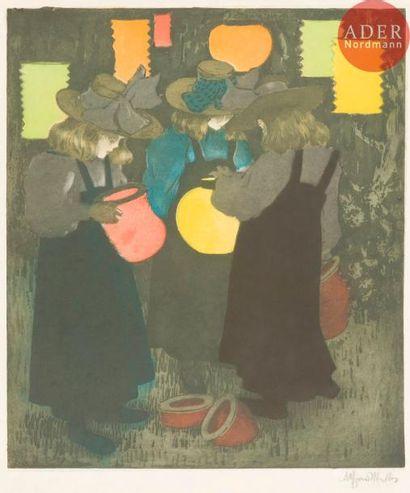 Alfredo Müller (1869-1940) Les Lampions....