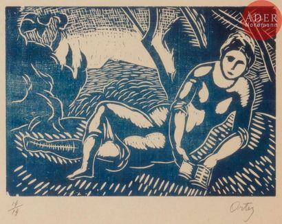 Manuel Ortiz de Zarate (1886-1946) Femme...