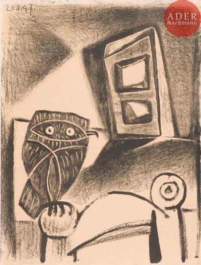 Pablo Picasso (1881-1973) Hibou à la chaise....