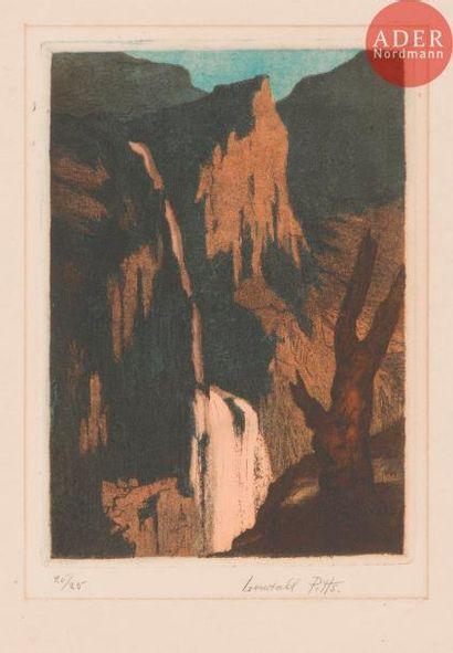 Lendall Pitts (1875-1938) Cascade en Dauphiné....