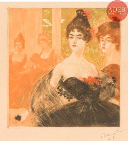 Richard Ranft (1862-1931) Au bal. Vers 1895....