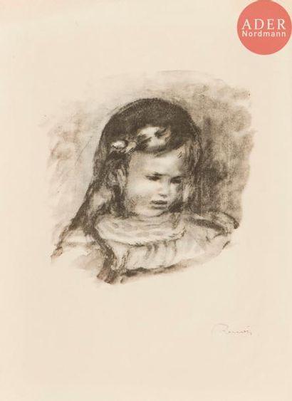 Pierre-Auguste Renoir (1841-1917) Claude Renoir, la tête baissée. 1904. (Pl. de...