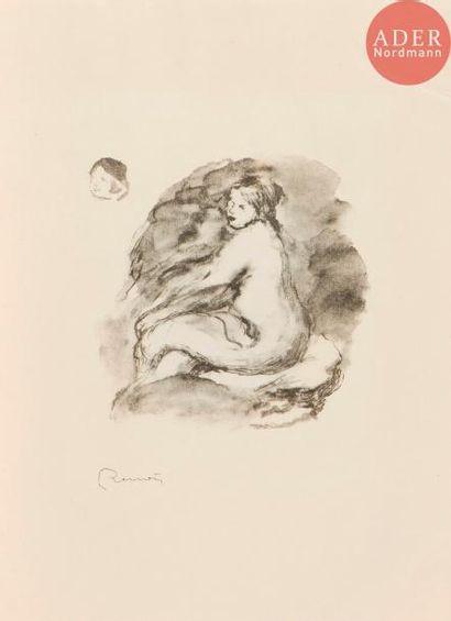 Pierre-Auguste Renoir (1841-1917) Étude de femme nue, assise. 1904. (Pl. de la suite...