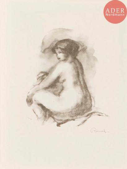 Pierre-Auguste Renoir (1841-1917) Étude de femme nue, assise, variante. 1904. (Pl....