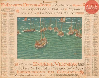 Henri Rivière (1864-1951) Calendrier pour 1902: «Estampes Décoratives en Couleurs...