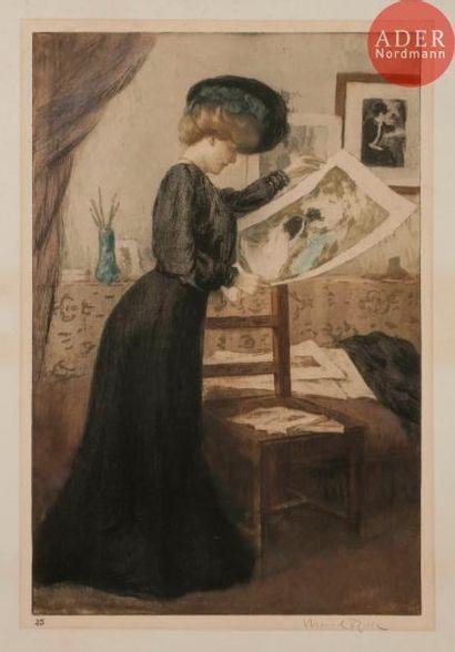 Manuel Robbe (1872-1936) La Belle épreuve. 1905. Aquatinte et pointe sèche. 328x500....