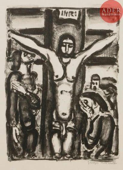 Georges Rouault (1871-1958) Christ en croix...