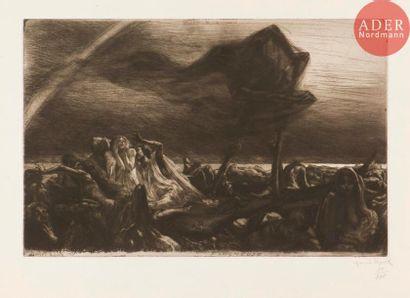 Marcel Roux (1878-1922) Faucheuse. (Pl. 7 de la suite des 12 Variations). 1907....