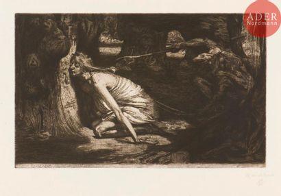 Marcel Roux (1878-1922) Dans la forêt du...