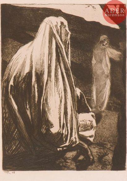 Marcel Roux (1878-1922) La Femme s'éloigne. (Pl. 5 pour L. Mercier, Lazare ressuscité,...