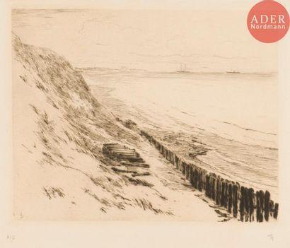 Charles Storm van 's Gravesande (1841-1924) La Dune (pl. 317 de l'œuvre). Pointe...