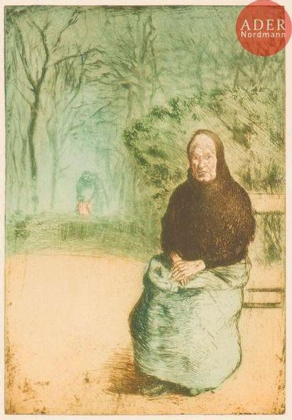 Joaquin Sunyer y Miró (1874-1956) La Vieille....