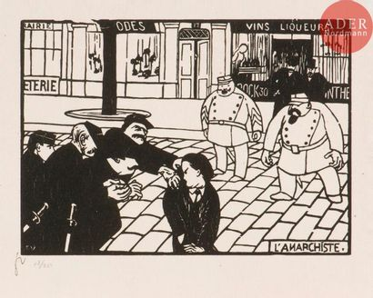 Félix Vallotton (1865-1925) L'Anarchiste. 1893. Bois gravé. 250x176. Vallotton...